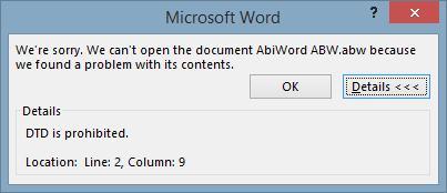 DFOM-Word-ABWError