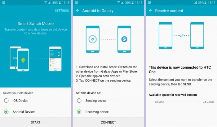 Easily Transfer Content to Samsung Phones with Smart Switch