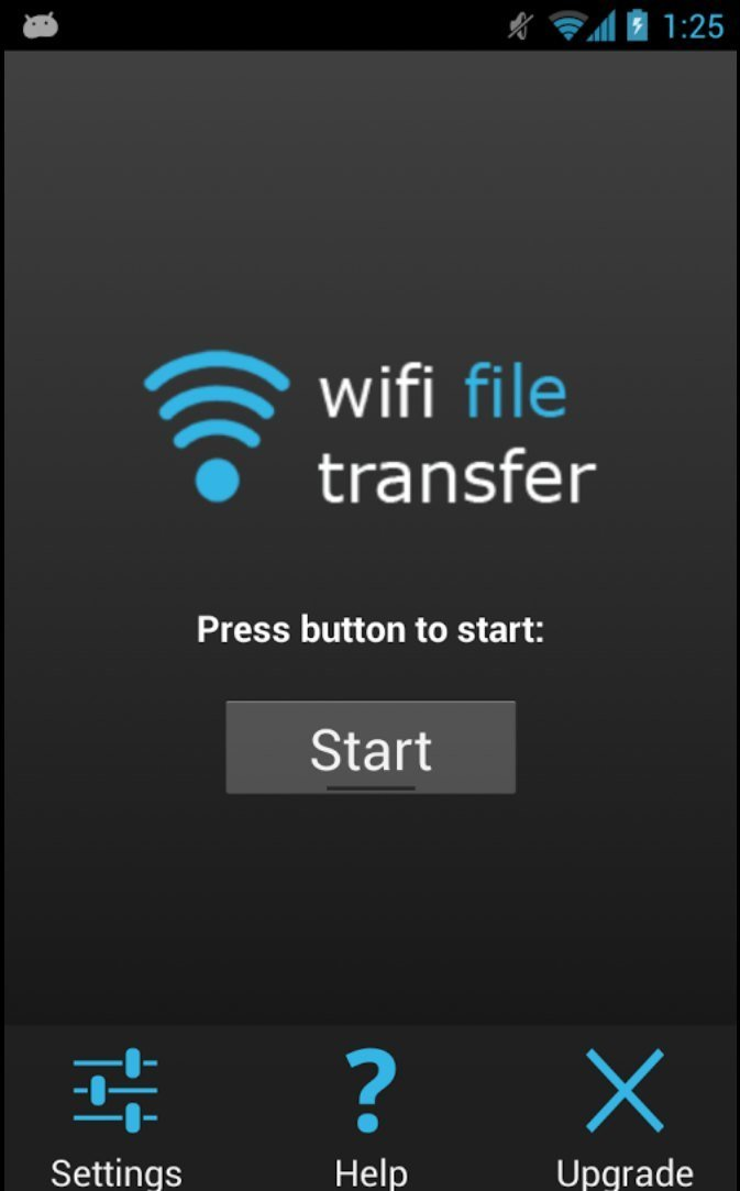 Wi-Fi File Transfer Start