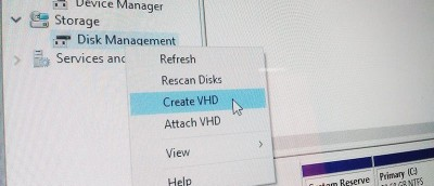 How to Create VHD (Virtual Hard Disk) in Windows