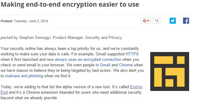 encrypt chrome-end-to-end