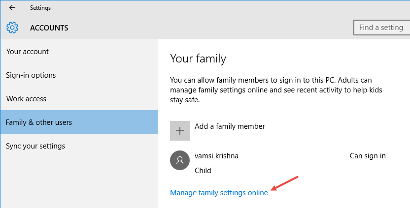 microsoft-family-click-link-to-manage