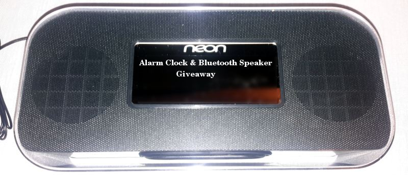 Neon Alarm Clock and Bluetooth Speaker - Review and Giveaway