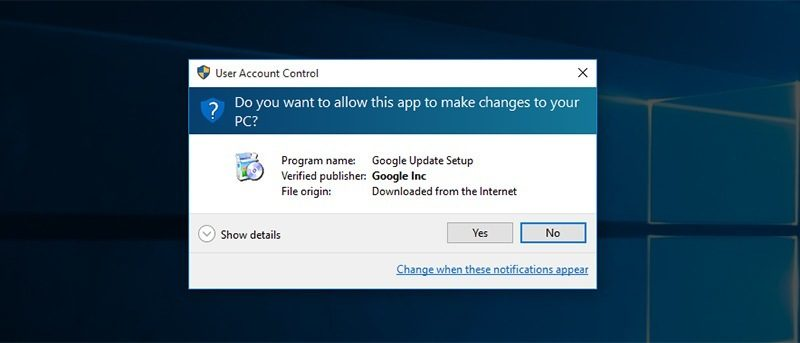 Why You Shouldn't Disable User Access Control Feature in Windows