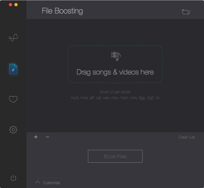 Boom -mte- file boosting