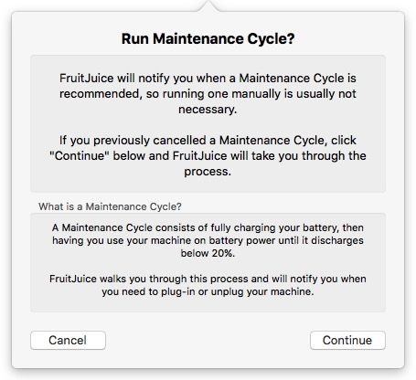 Fruit Juice -mte- maintenance cycle