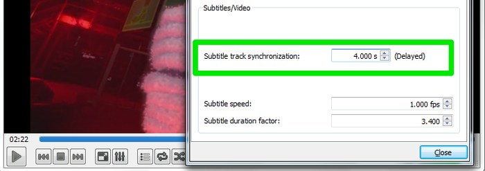 VLC-Subtitles-Adjust-Delay