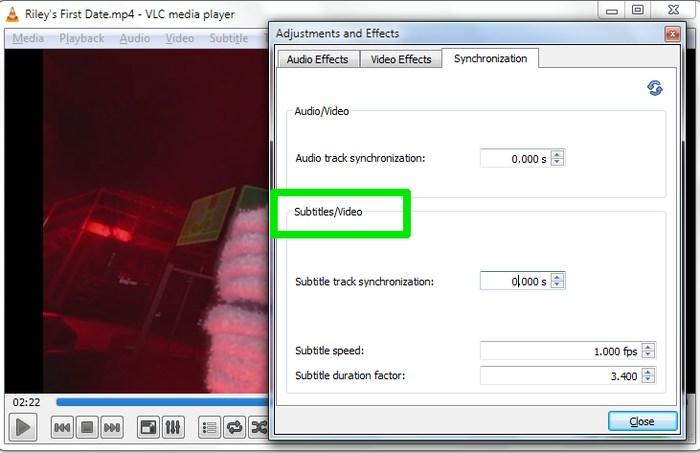 VLC-Subtitles-Synchronize-subtitles