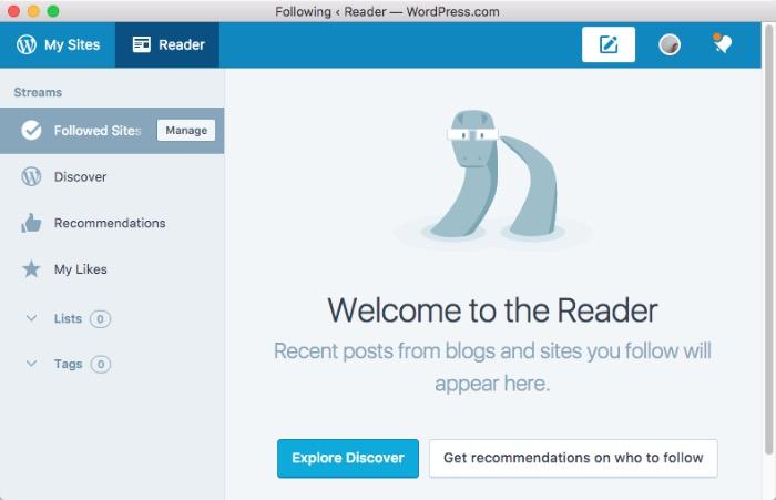 Wordpress Desktop -mte- Reader