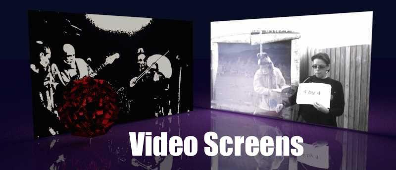 Blender 3D Building Virtual Video Screens