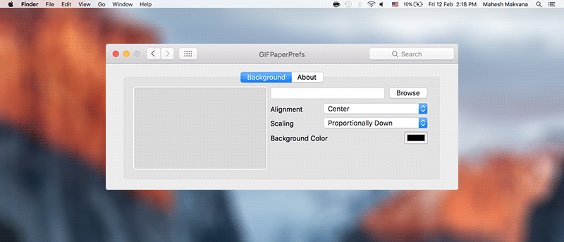 Use An Animated Gif As The Wallpaper On Your Mac