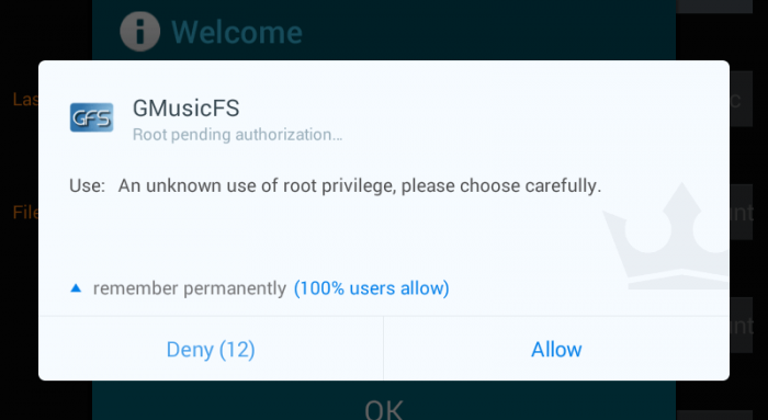 gmusicfs-android-root-access-window