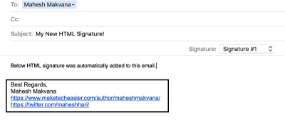 How to Create an HTML Signature For Emails in Mail for OS X
