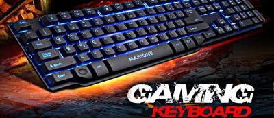Masione Multi-Color LED Backlit Gaming Keyboard Review