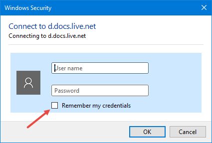 onedrive-username-password