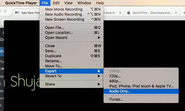quicktime-export-audio