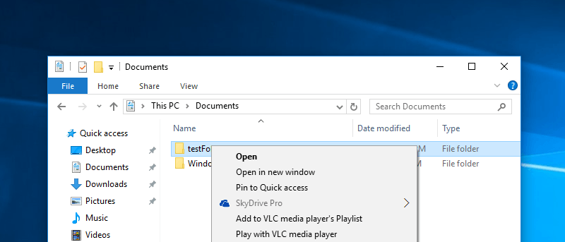 How To Get Rid Of SkyDrive Pro In The Windows 10 Context Menu