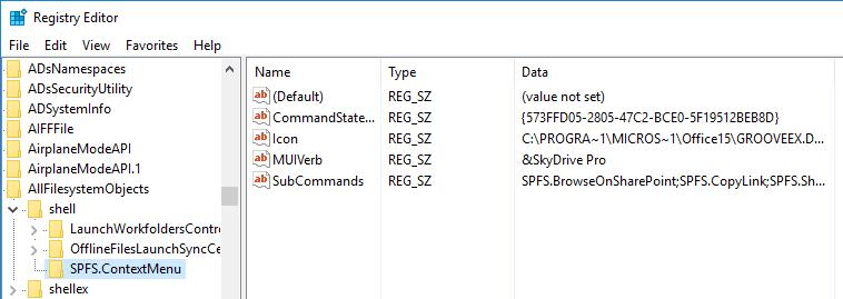 remove-skydrive-pro-navigate-to-key