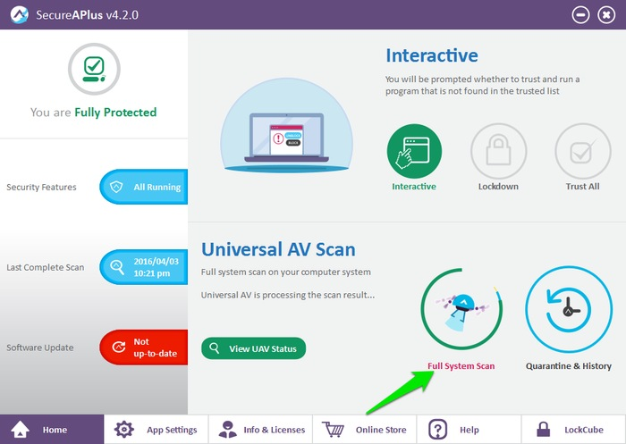 SecureAPlus-Review-Full-System-Scan