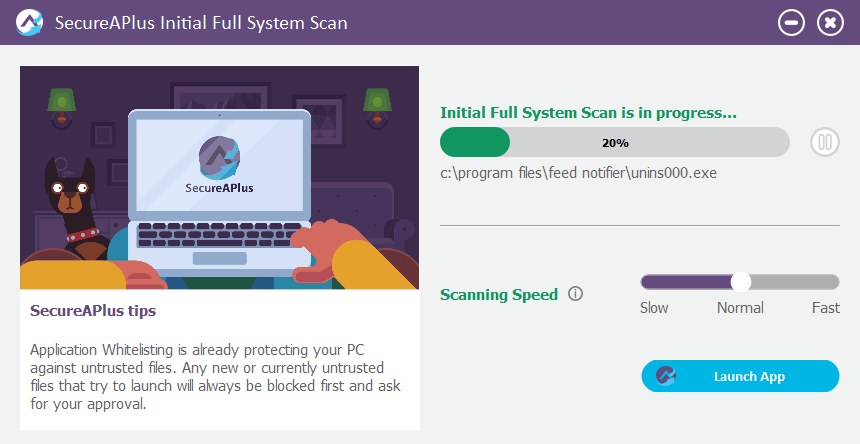 SecureAPlus-Review-Initial-Scan