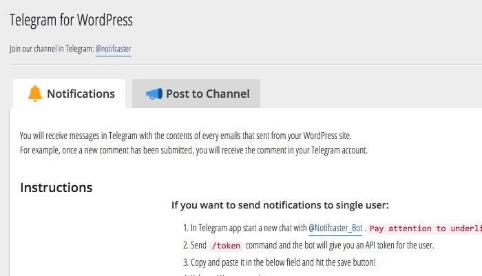 Wordpress n Telegram -mte- Two Tabs