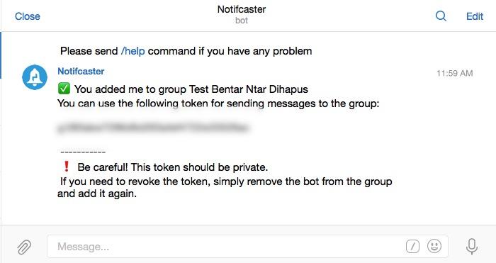 Wordpress n Telegram -mte- token group