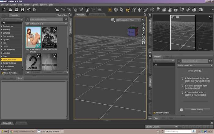 daz3d-basics-interface
