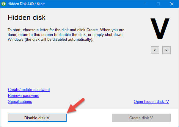 hidden-disk-disable-disk