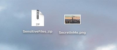 How to Hide a ZIP Archive in an Image File on a Mac