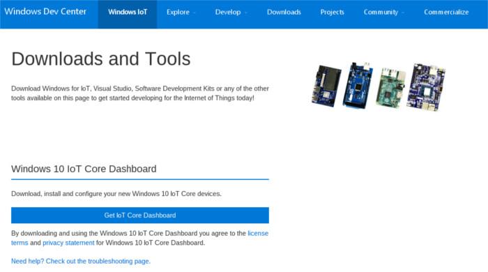 windows10iot-dashboard