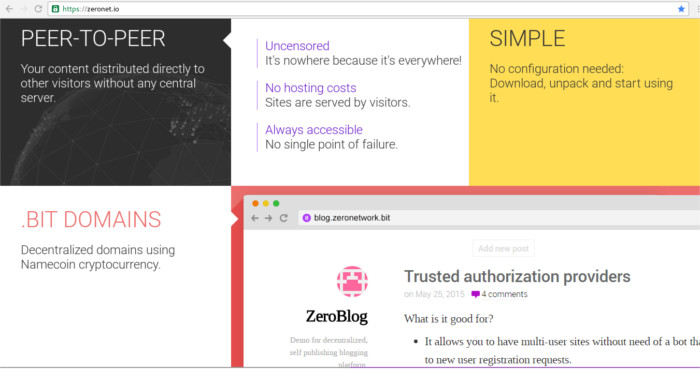 zeronet-homepage