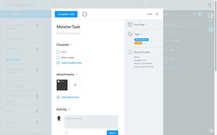 MeisterTask -mte- Add Task