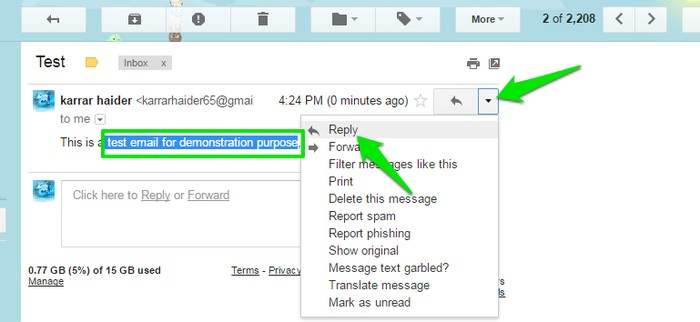 Quote-Phrase-in-Gmail-Reply