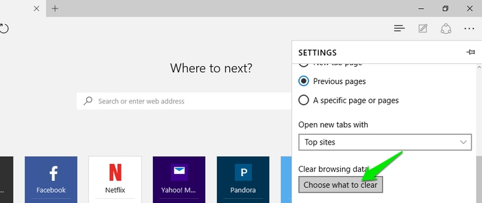 Reset-Microsoft-Edge-Clear-browsing-data