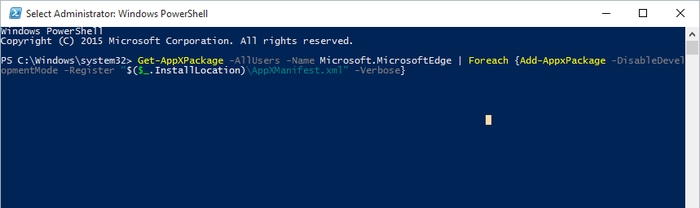 Reset-Microsoft-Edge-Enter-Command
