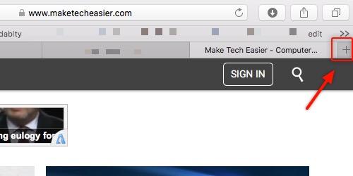 Safari Tabs -mte- open new