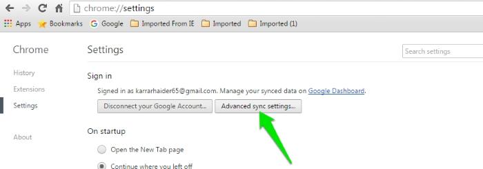 Sync-Chrome-Data-Advanced-sync-settings