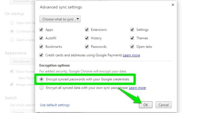 Sync-Chrome-Data-Encrypt-passwords