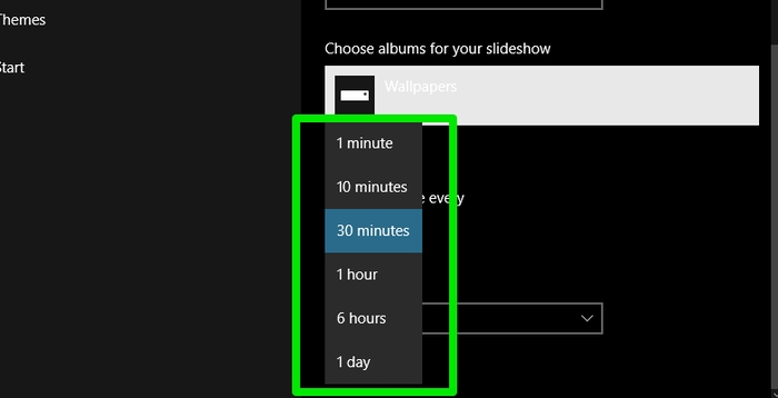 Windows-10-Slideshow-Select-interval