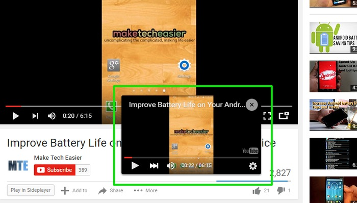 YouTube-Picture-in-Picture-Drag