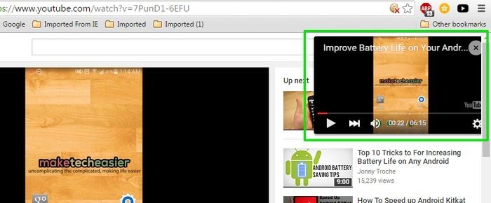 YouTube-Picture-in-Picture-Sideplayer-interface