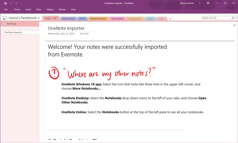 evernote-to-onenote-import-complete