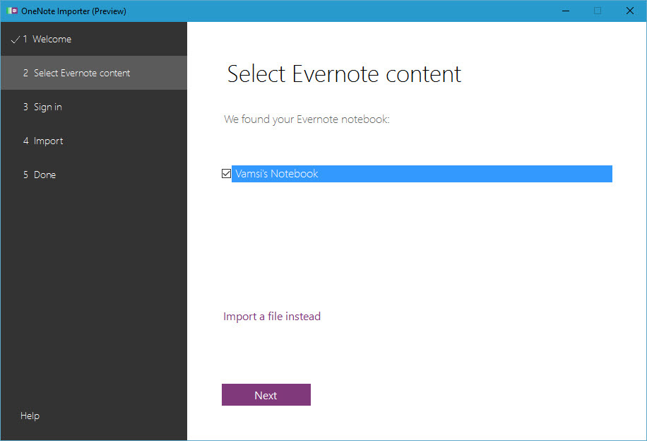 evernote-to-onenote-select-notes