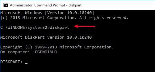 format-usb-diskpart