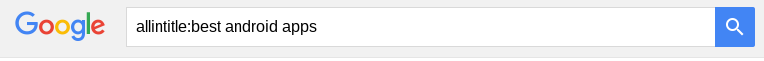 google-search-allintitle