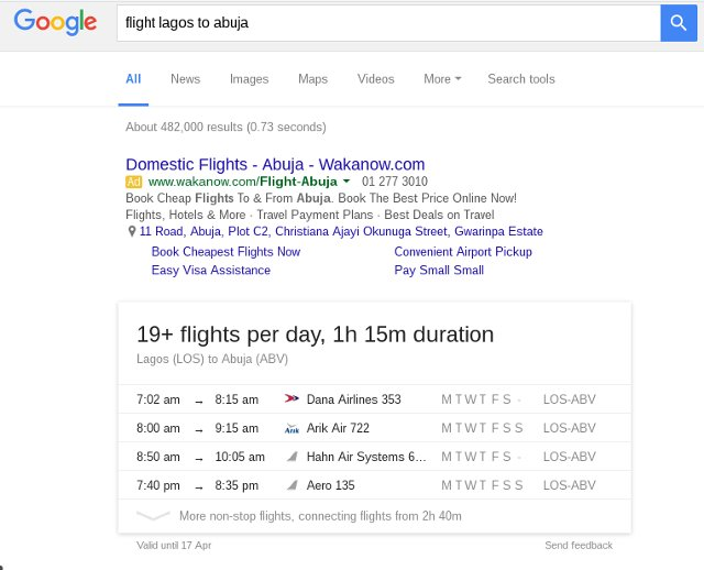 google-search-flight-schedule