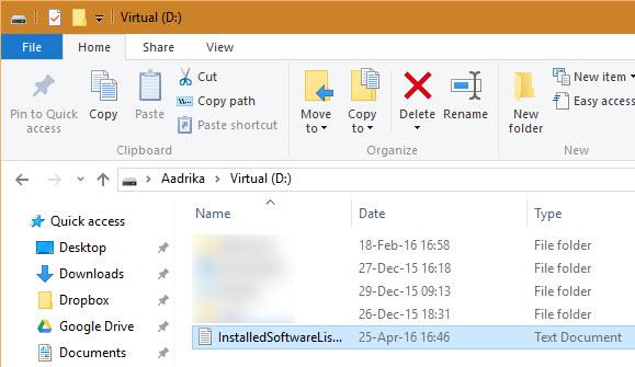installed-software-list-cmd-save-as