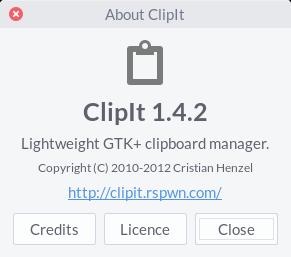 linux-clipboard-clipit
