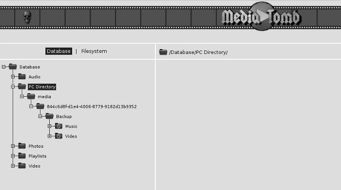 mediatomb-database