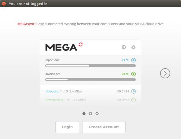 megasync-home-screen